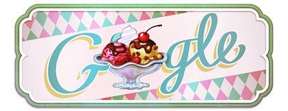 google纪念圣代冰淇淋发明119周年logo