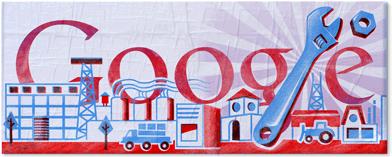google五一劳动节标志