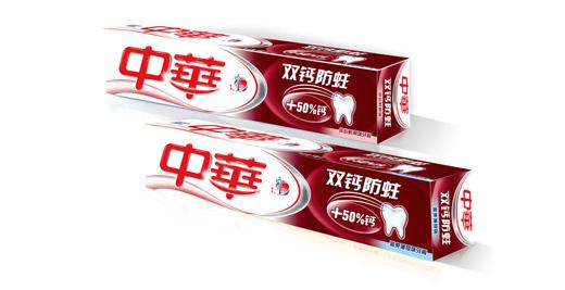 中华牙膏产品包装盒